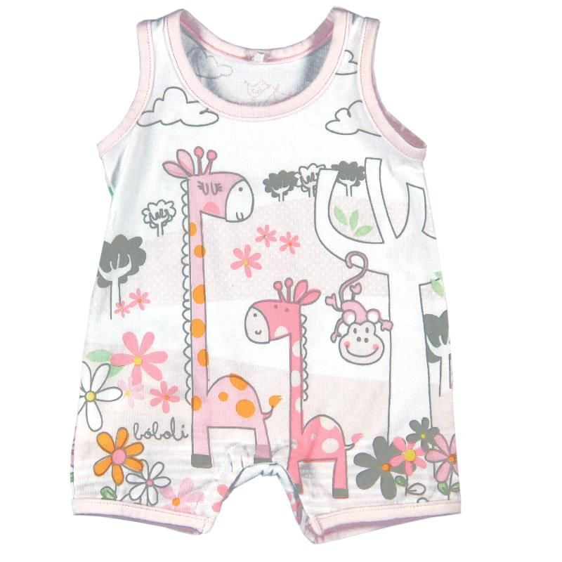 101057 Pink Playsuit