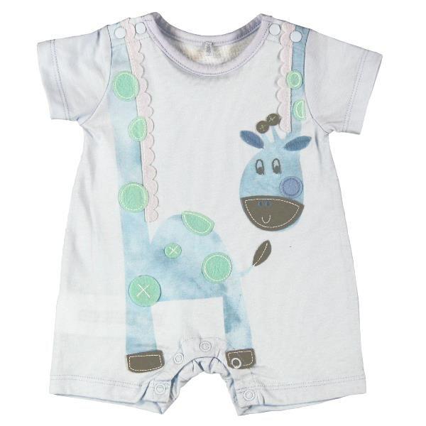 101103 Giraffe play suit Blue