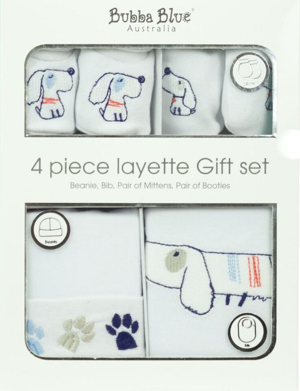 4Pce New Born Layette Set Bon Garcon