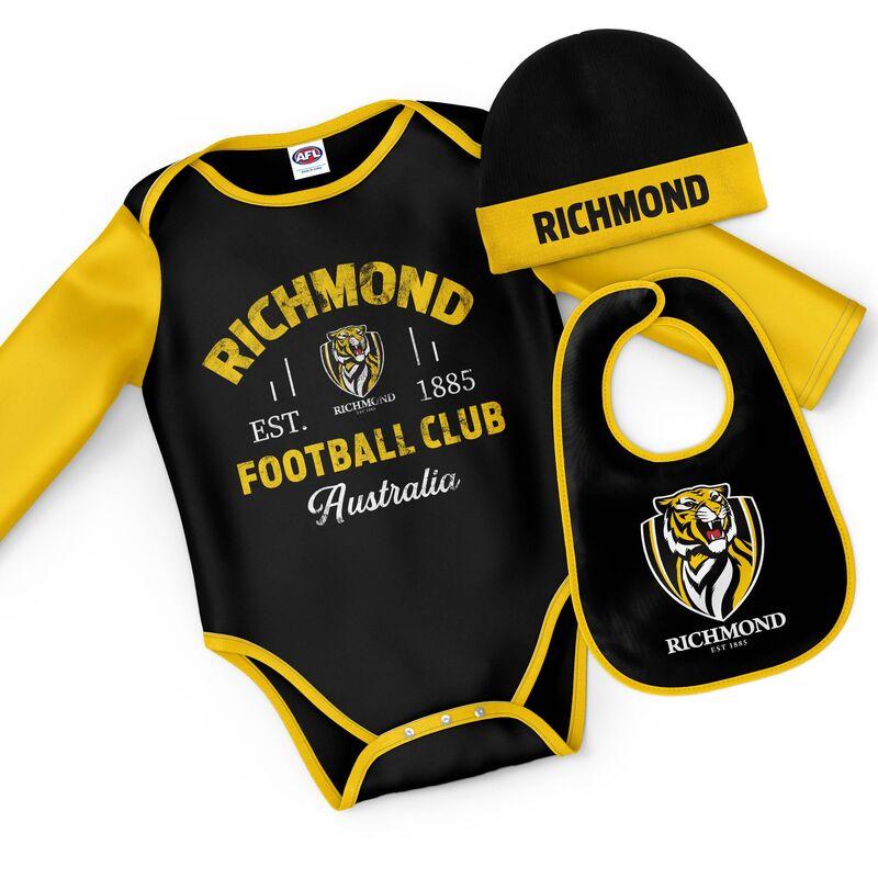 AFL Richmond Tigers Rover 3pc Bodysuit Gift Set