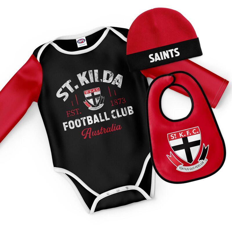 AFL Saint Kilda Rover 3pc Bodysuit Gift Set