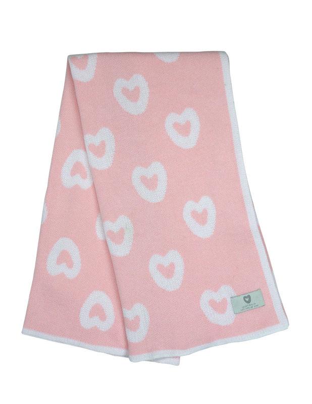 B8005P Heart Blanket