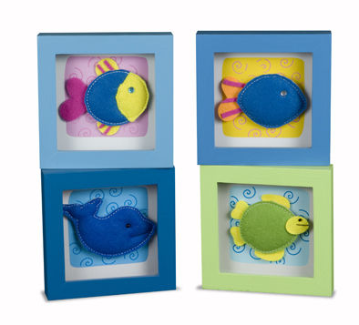 BBK0426 Tropical Fish Felt Picture Frames  set 4