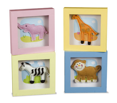 BBK0427 Jungle Animals Felt Picture Frames  set 4