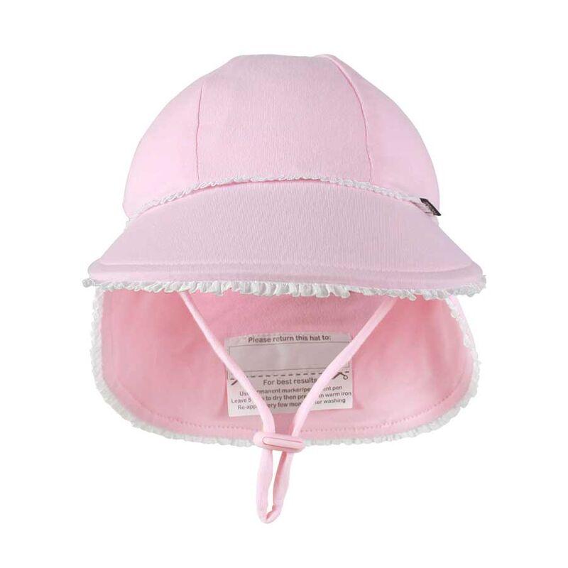 BH Blush Ruffle Trim Legionnaire Flap Hat UPF50+