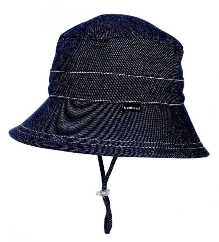 BH Denim Kids Bucket sun hat with strap UPF 50+