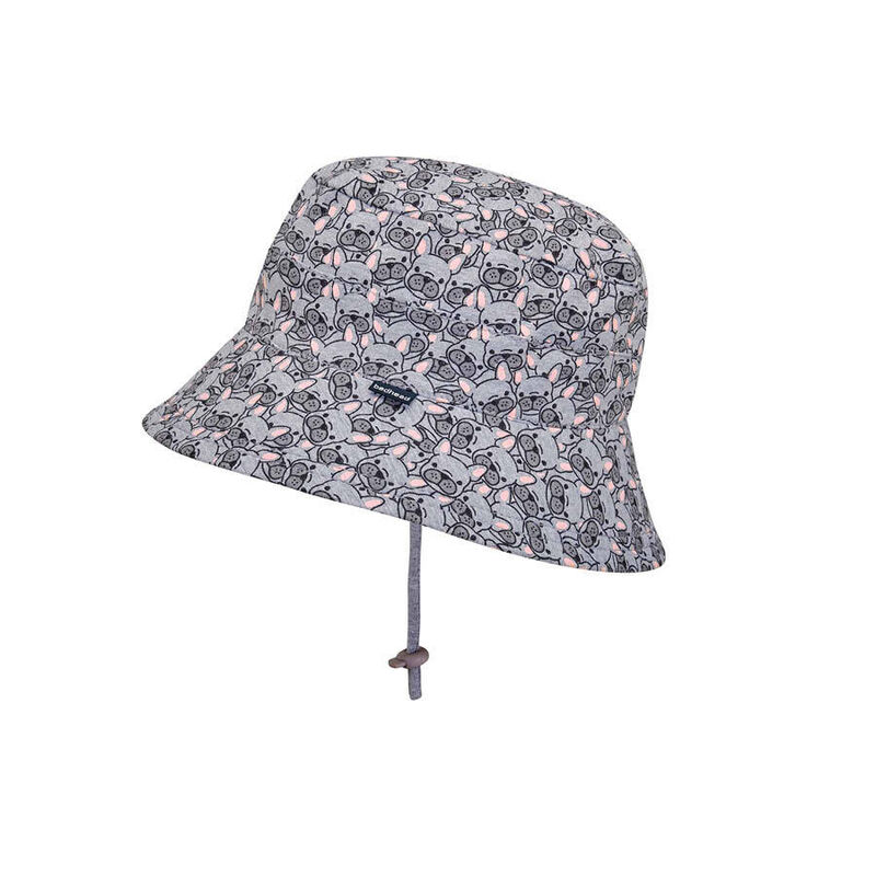 BH Frenchie Kids Bucket Hat with Chin Strap UPF50+