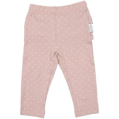 Baby Polka Dot Frill Legging  Pink