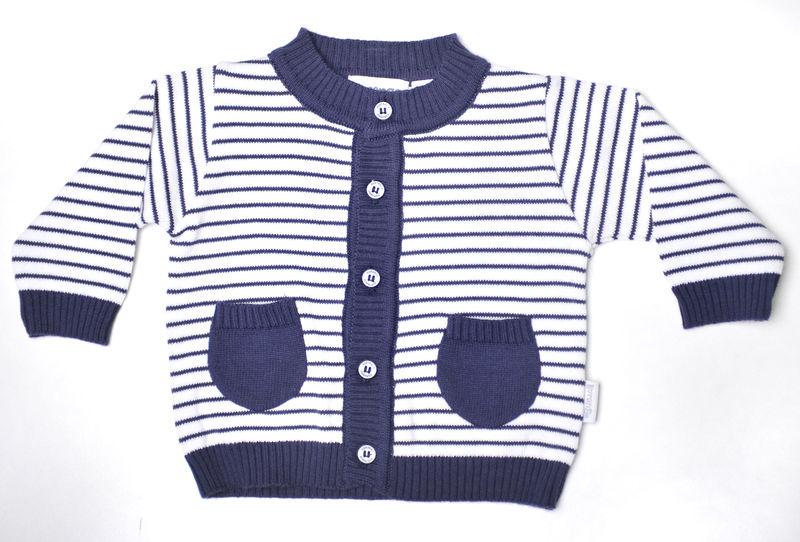 C6027W Striped Cardigan