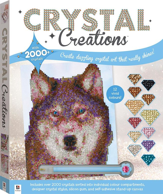 Crystal Creations Wolf in Snow