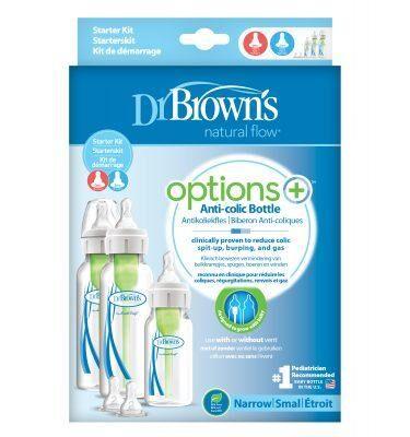 Dr Browns Options+ Narrow Neck Feeding Bottle Starter Kit