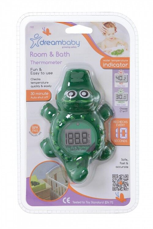 F322 Room and Bath Thermometer  Crocodile
