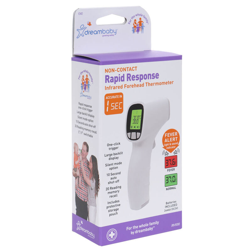 F342 NonContact Rapid Response Infrared Forehead Thermometer