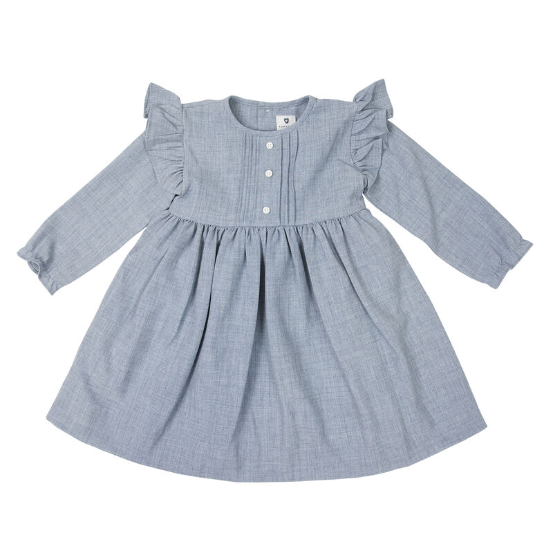 Fine Cable Dress  Grey C1722G