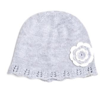 Holly beanie with hand embroidered flowers