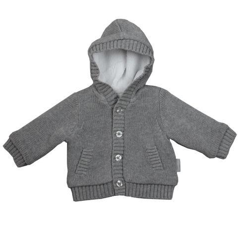 Hooded Cardigan  Grey