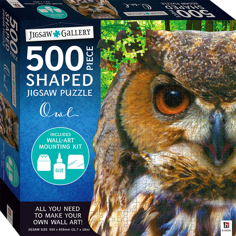 Jigsaw Gallery 500piece Shaped Jigsaw Owl