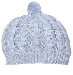 Marley Cable Knit Beanie - Sky