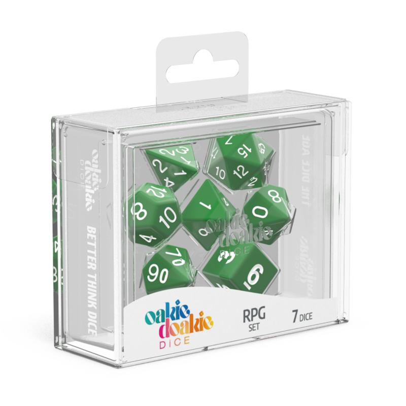 Oakie Doakie Dice RPG Set Solid  Green