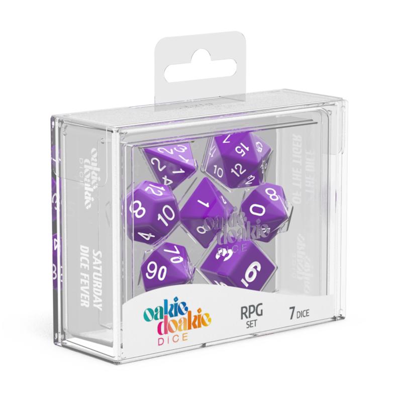 Oakie Doakie Dice RPG Set Solid  Purple