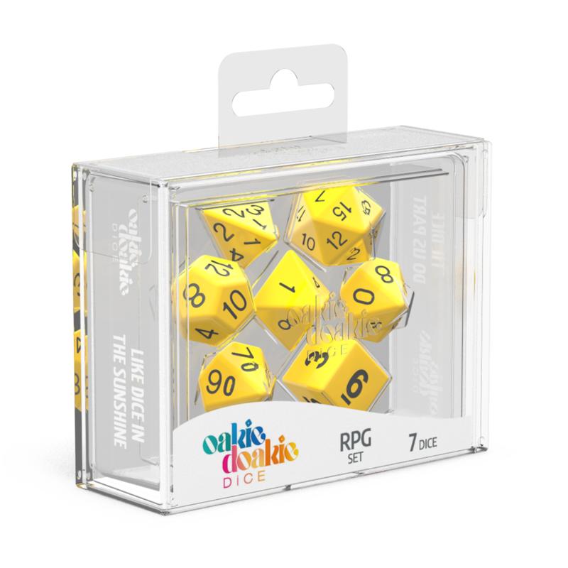Oakie Doakie Dice RPG Set Solid  Yellow