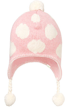 Organic Earmuff Cloud Beanie Blush
