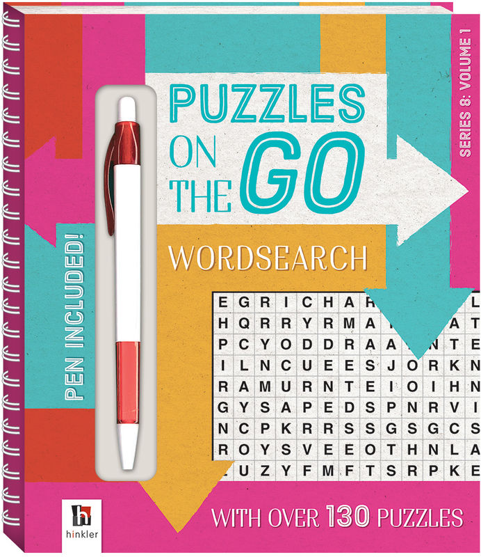 Puzzles on the Go Wordsearch Series 8 Volume 1