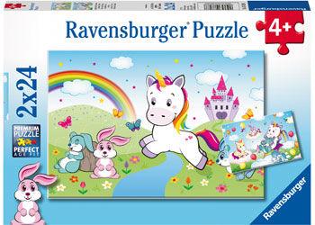 RB078288 Fairytale Unicorn 2x24pc Puzzle