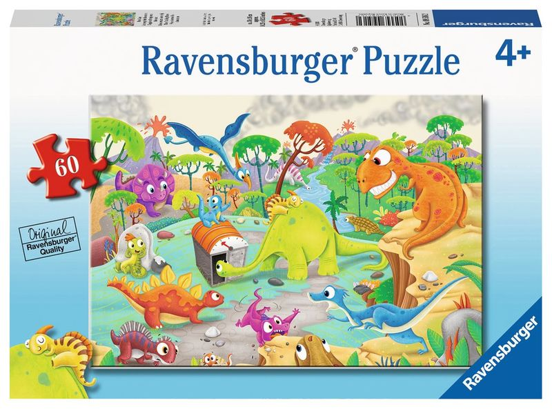 RB095162 Time Traveling Dinos 60pc Puzzl