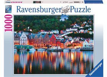 Ravensburger RB197156 Bergen Norwegian 1000pc Jigsaw Puzzle