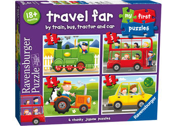 Ravensburger  Travel Far My First Puzzle 2 3 4 5 pieces