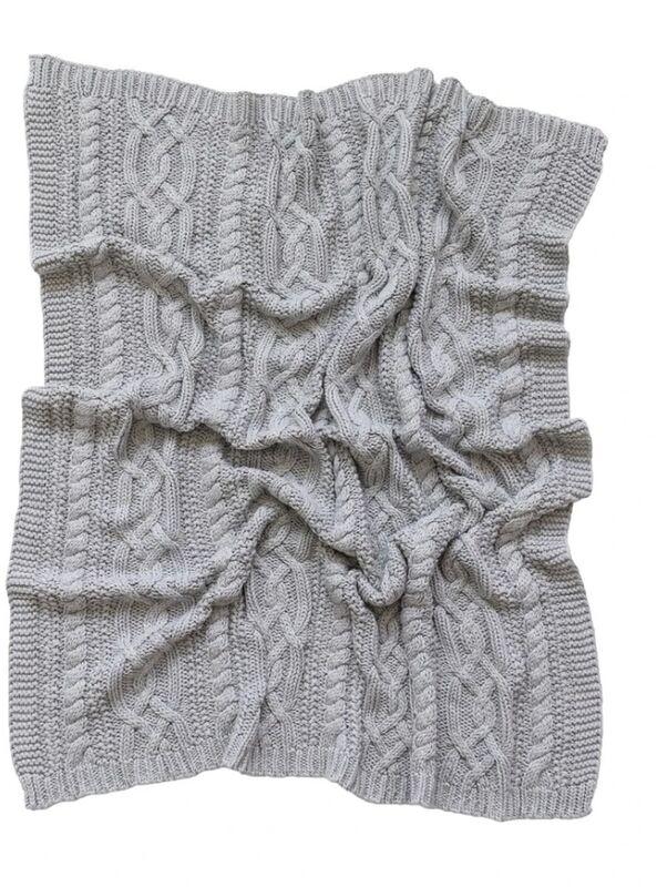 Reilly Knit Blanket  Grey