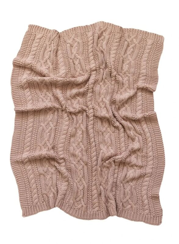 Reilly Knit Blanket  Nude