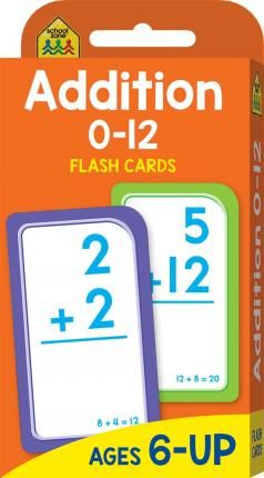 School Zone Addition 012 Flash Cards