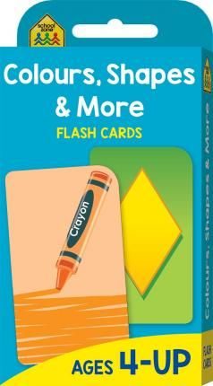 School Zone Colours Shapes and More Flash Cards