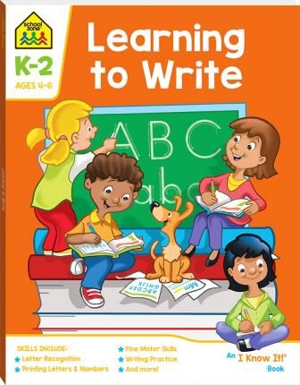School Zone Learning to Write I Know It Book