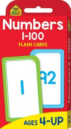 School Zone Numbers 1100 Flash Cards