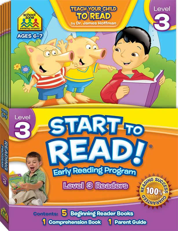 School Zone Start to Read Level 3 Readers