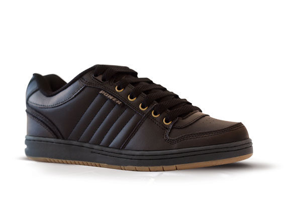 Slam - Black School Shoe