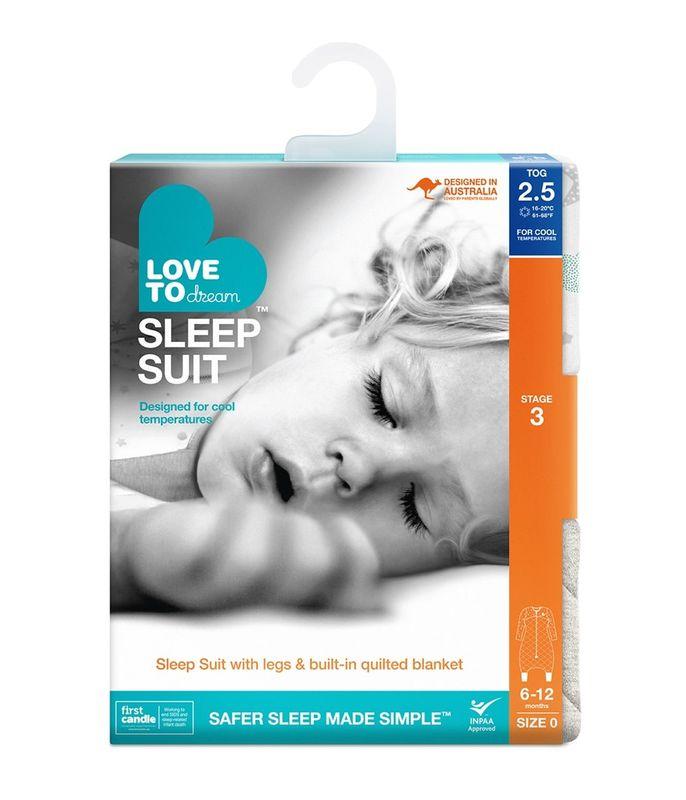 Sleep Suit 25Tog White