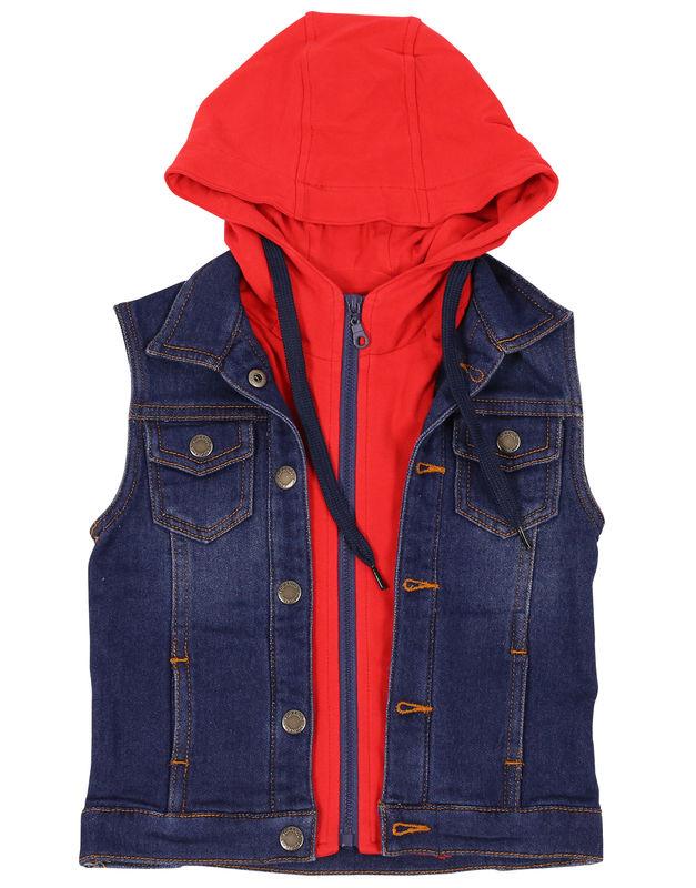 Sunny Boy Hooded Denim Vest