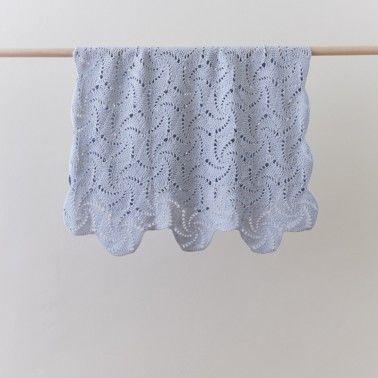 Swirl Blue Baby Blanket