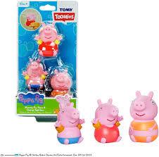 TOMY Toomies Peppa Pig Family 3 Pack Bath Squirters