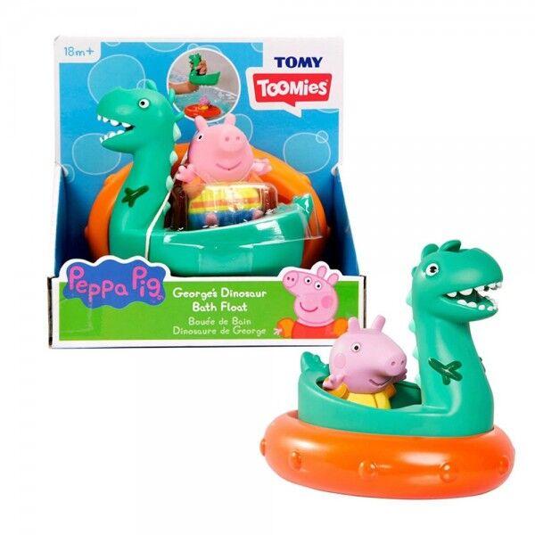 TOMY Toomies Peppa Pig  George and Dino Bath Float
