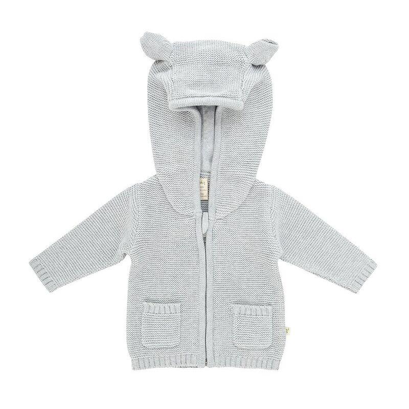 TTW21K4 Knitted Hoodie  Grey Marle