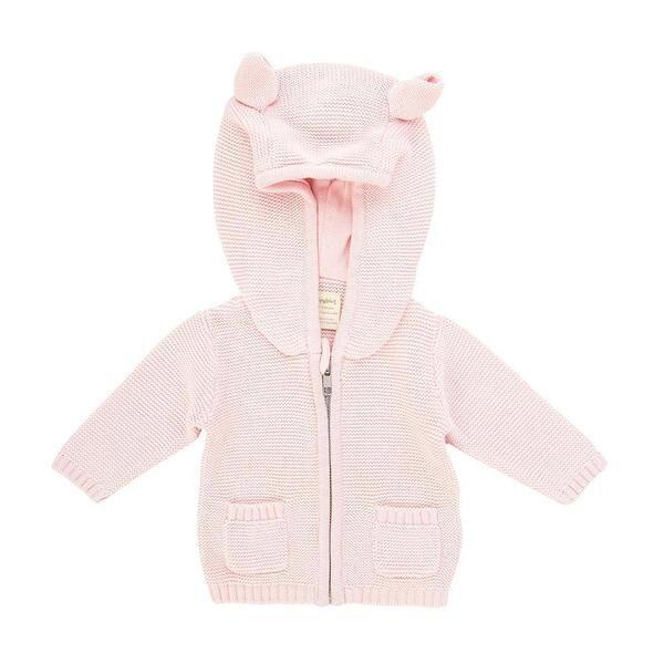 TTW21K4 Knitted Hoodie  Soft Pink