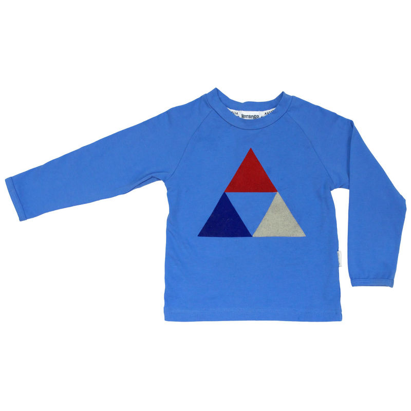 Tri Action Felt LS Tee Blue