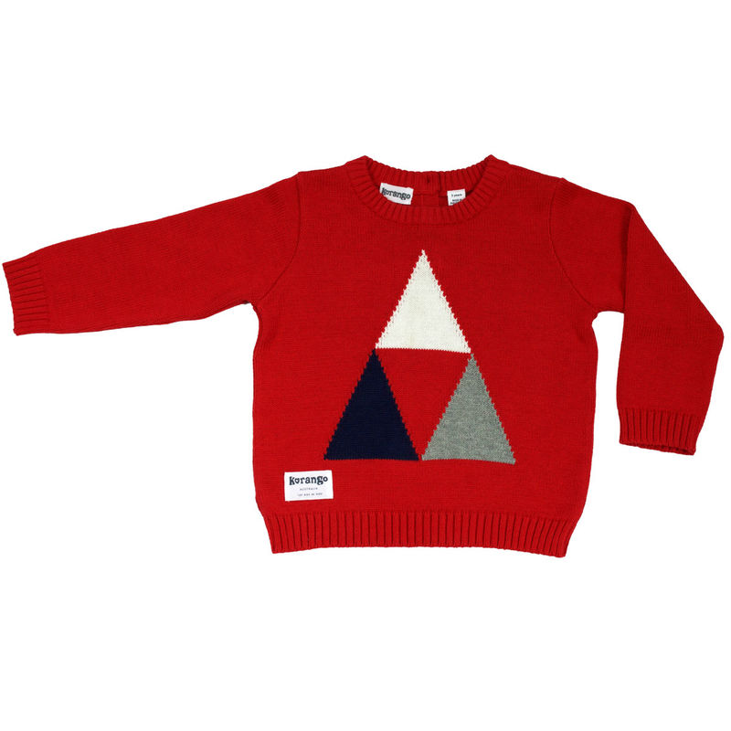 Tri Action Knit Sweater  Red