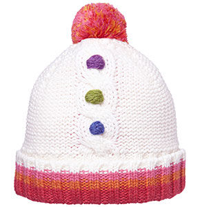 Ziggy Beanie, with pom-pom - Cream