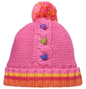 Ziggy Beanie, with pom-pom - Pink